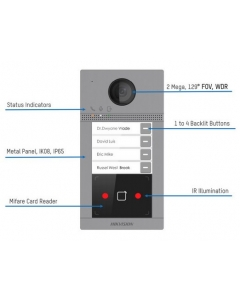 2mp Hikvision DS-KV8113-WME1 Video Intercom Metal Villa Door Station