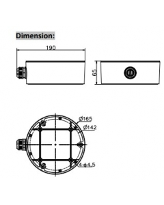 Hikvision DS-1280ZJ-DM26 Junction Box Bracket