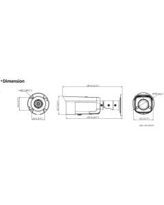 8MP DS-2CD2T86G2-ISU/SL Hikvision 4K AcuSense 2.8mm 111° IP Bullet Camera with Strobe & 2-Way Audio