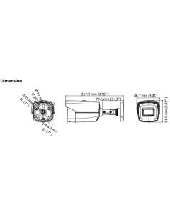 8MP (4K) DS-2CE16U1T-IT3F 3.6mm 79° Bullet Camera with 60m IR
