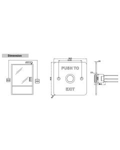 Hikvision DS-K7P01 Exit & Emergency Metal Button