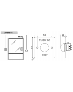 Hikvision DS-K7P06 Brushed Stainless Steel Panel Push To Exit & Emergency Button