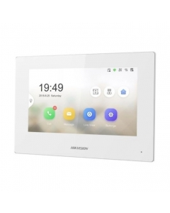"""2~Wire DS-KH6320-WTE2-W Hikvision 7"""" Touch Screen with WI-FI for Video Intercom White"""