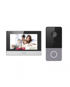 """Hikvision DS-KIS603-P(B) IP Video Intercom Kit with 7"""" Touchscreen"""