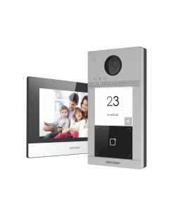 """Hikvision DS-KIS604-P(B) IP Video Intercom Kit with 7"""" Touchscreen"""