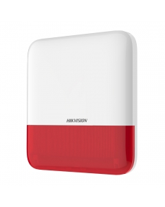 Hikvision AX PRO DS-PS1-E-WE Wireless External Bellbox Sounder Siren & Strobe RED