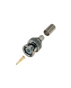 BNC Crimp Professional 3-Part Connectors for RG59 Coax Cable
