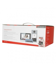 """2MP Hikvision DS-KIS604-S(B) IP Video Intercom Kit with 7"""" Touchscreen"""
