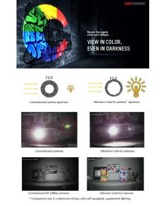 5MP ColorVu PoC DS-2CE12HFT-E 2.8mm 100° 40m Night Colour Bullet Camera