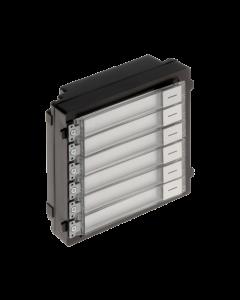 Modular DS-KD-KK/S Video Intercom Nametag Module S/Steel