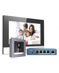 """2MP DS-KIS602 Hikvision IP Video Intercom Kit with 7"""" Touchscreen"""
