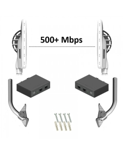 Pre-Configured Wireless PTP Bridge Kit 500+Mbps with Brackets