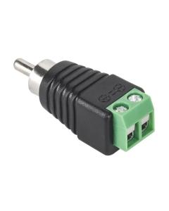 RCA Male (Phono) to Screw Terminal Connector CCTV Audio Balun