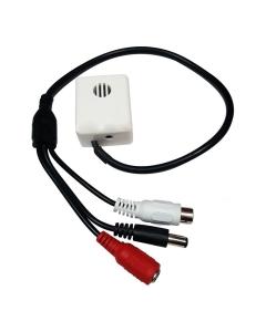 CCTV Internal Mic Microphone, Adjustable Gain, 30m Range, 80m2 Coverage 12v