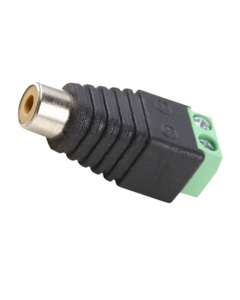 RCA Female (Phono) to Screw Terminal Connector CCTV Audio Balun
