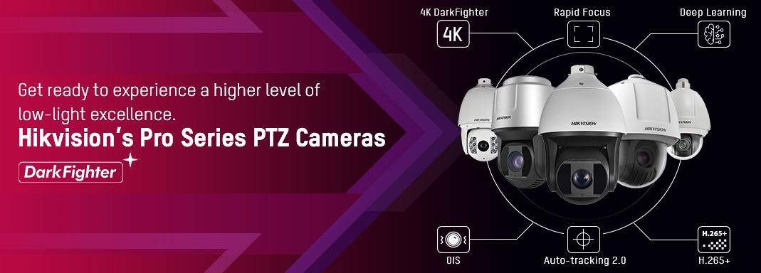 Full Range of Hikvision PTZ Pan-Tilt-Zoom Cameras