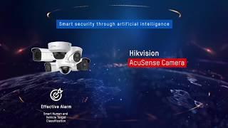 Hikvision AcuSense Cameras with Audio Alarm & Strobe Light