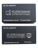 Netview 4K NV-HL-HDMI-4KEX70 HDMI Extender over Cat5e or Cat6 with IR