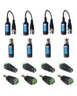 4 Camera Connector Kit HD Baluns (mixed) max 8MP for Hikvision Turbo HD Cameras