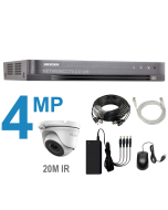 4 Channel DVR Kit with 4MP Cameras with 20m IR
