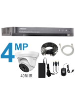 8 Channel DVR Kit with 4MP Cameras with 40m IR