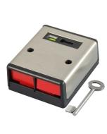 CQR -PADP2/SS/G1 Dual Push Panic Button Stainless Steel + Key