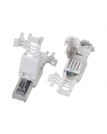 NV-EAG-P284M Cat6A UTP RJ45 Tool-less Plug/Crimp Fixed Ring for UTP Cat 6A Cable