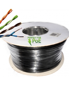 Cat6 100m Connectix UTP External (PE) Solid Copper BLACK