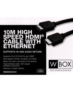 4K High Speed 10.2Gbps HDMI Cable 1m 2m 3m 5m & 10m Professional