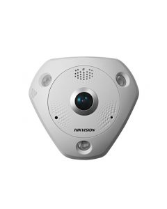 12MP DS-2CD63C2F-IVS Hikvision Fisheye 360° IP Camera 15m IR Mic & Speaker