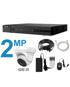 4 Channel DVR Kit with 2MP Cameras with 40m IR