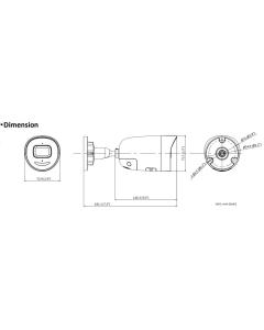 4MP DS-2CD2046G2-IU/SL Hikvision AcuSense 4mm 83° IP Bullet Camera with Strobe & Audio Alarm