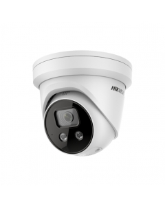 4MP DS-2CD2346G2-ISU/SL Hikvision AcuSense 2.8mm 103° IP Turret Camera with Strobe & 2-Way Audio