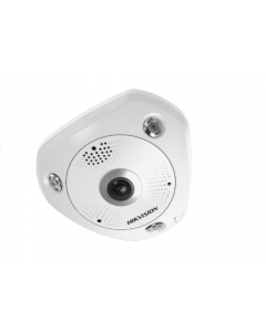 6MP DS-2CD6365G0-IVS DeepinView 360° 1.27mm Fisheye IP Camera with Mic & Speaker