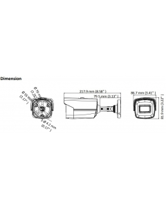 8MP DS-2CE16U1T-IT3F Hikvision 4K 3.6mm 79° Bullet Camera with 60m IR