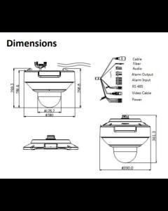 8MP DS-2DP1636Z-D Hikvision PanoVu 5mm 360° Panoramic Dome +PTZ IP Camera