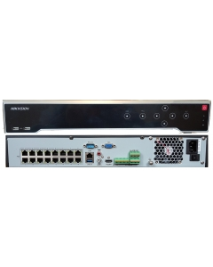 16 Channel DS-7716NI-K4/16P 16CHx8MP 16xPoE Hikvision 4K NVR