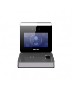 Hikvision DS-K1F600-D6E-F Touch Screen Station, 2MP Video, Face Recognition, Card & Fingerprint Reader