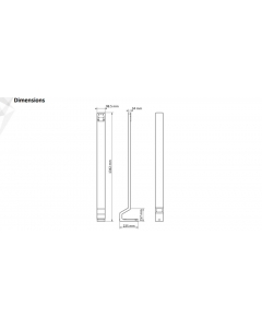 Hikvision DS-KAB671-B Floor Stand for DS-K1T671 Series