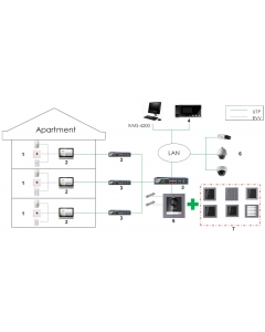 Hikvision DS-KD-INFO Modular Information Module for Video Intercom