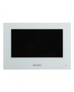 "2~Wire DS-KH6320-WTE2-W Hikvision 7"" Touch Screen with WI-FI for Video Intercom White"
