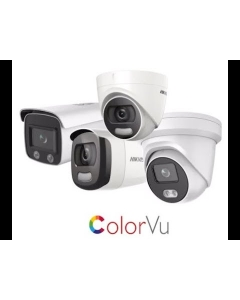 4MP DS-2CD2347G1-LU Hikvision ColorVu 2.8mm 109° Full Time Colour IP Turret Camera with Microphone