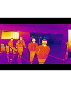 DS-2TD1217B-6/PA Hikvision 6mm Fever Scanning Thermographic Temp Measurement Turret Camera