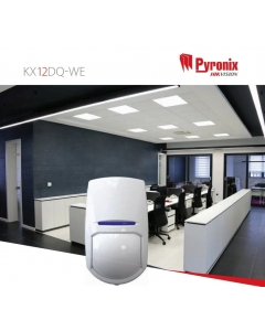 Pyronix KX12DQ-WE KX Digital Quad Technology 12m PIR Sensor Wireless Volumetric Detector