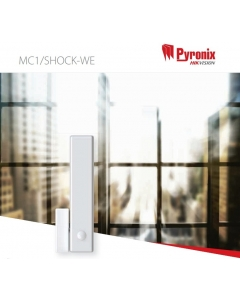 Pyronix MC1/SHOCK-WE Wireless Enforcer Magnetic Contact and Shock Sensor WHITE