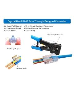 EasyCrimp RJ45 Professional Ratchet Type Cut-and-Crimp Tool