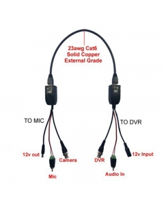 CCTV Mic Connection Kit ADD Microphone to DVR NVR or IP Camera