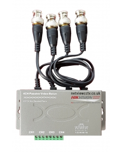 Netview 4 Channel Balun for CCTV compatible with Hikvision DVR upto 8MP