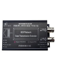 2CH IP over Coax Extender. Long-Range PoE & PoE+ CCTV distance up to 2500m