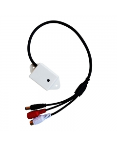 CCTV External Outdoor Mic Microphone, Clearspeach, 30m Range, 80m2 Coverage 12v